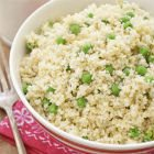 Couscous with cheese & peas
