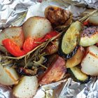 Grilled individual veggie packets