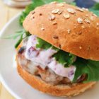 Turkey Burgers with Cranberry Aioli