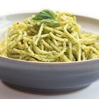 Spring green and almond pesto