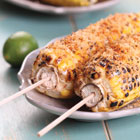 Mexican-style grilled corn on the cob