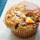 Fresh peach bran muffins