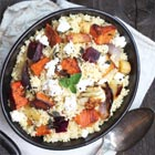 Roasted Winter Vegetables with Couscous & Goat Cheese