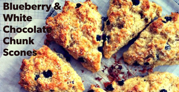 Blueberry & White Chocolate Chunk Scones