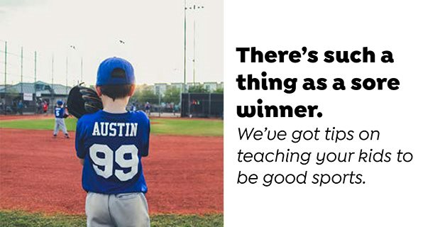 How to teach your kids to be good sports