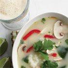 Thai Chicken Soup and Orange Creamsicle Milkshake