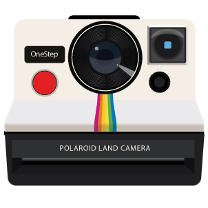 Image result for polaroid camera and picture