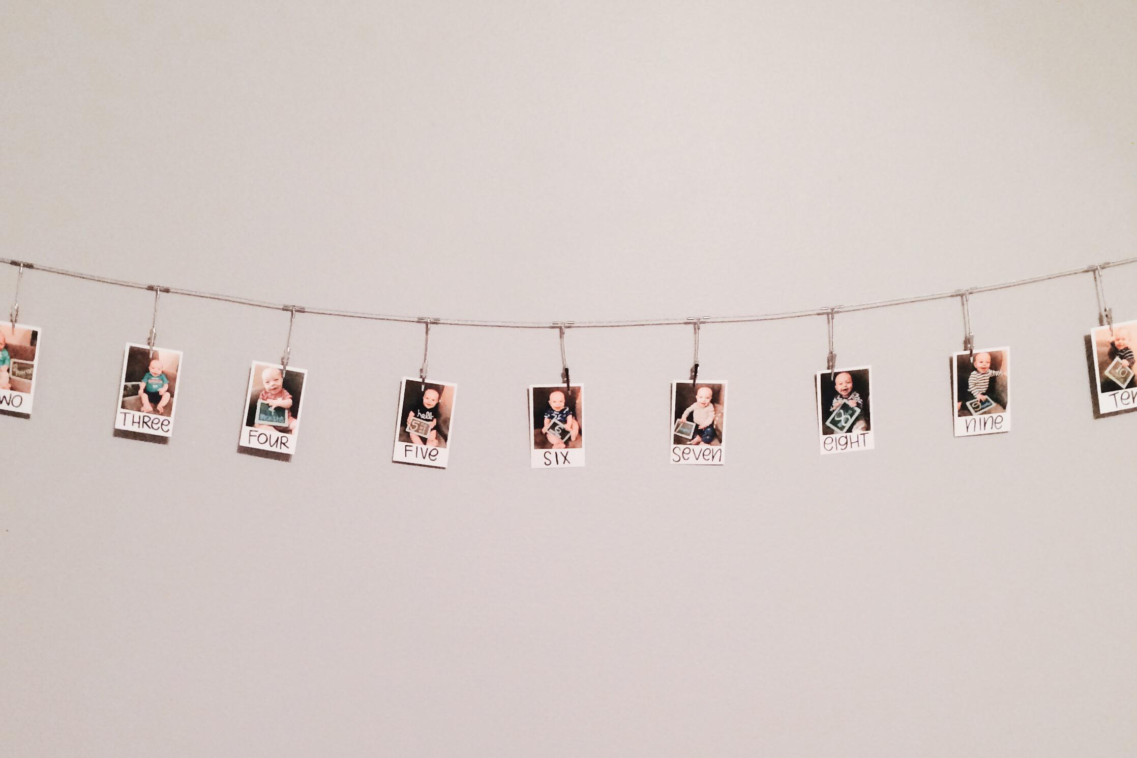 Polaroid baby photos