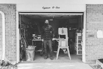 Jarrod Reno standing in the garage