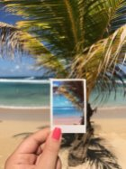 The Caribbean blues and hues made for a perfect palm tree photo op.