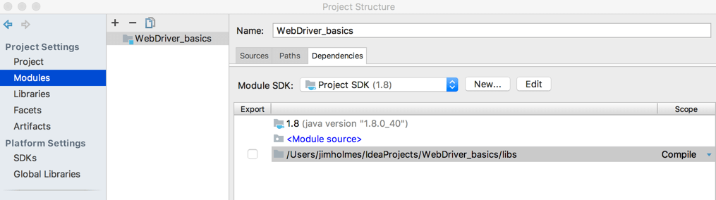 Completed IntelliJ configuration
