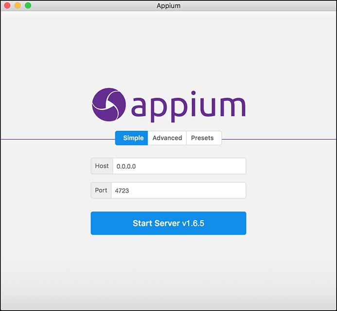 Appium Splash Page