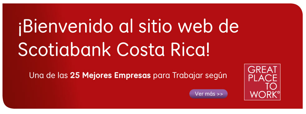 Bienvenidos a Scotiabank Costa Rica!