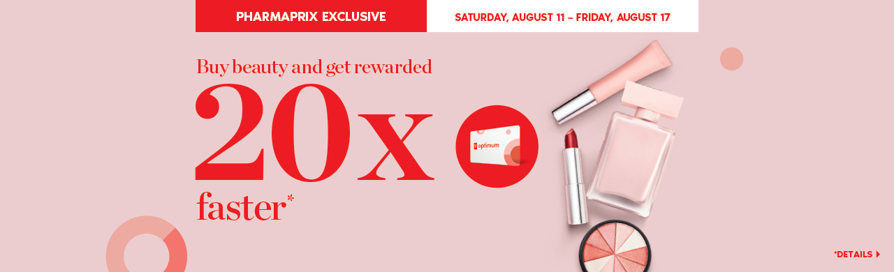 Buy beauty and get rewarded 20x faster*