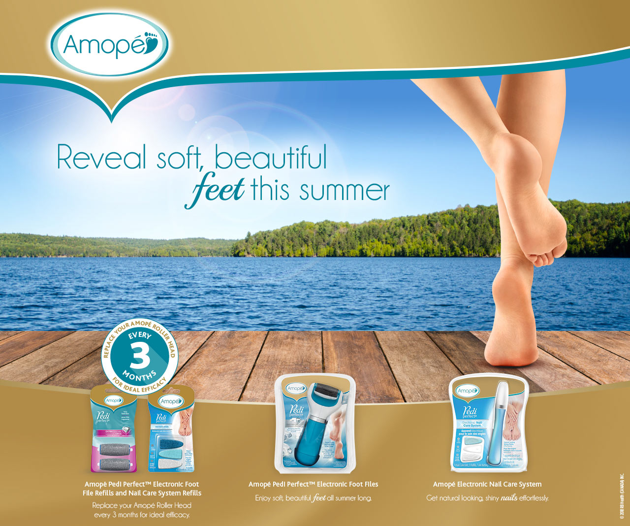Amopé | Reveal soft, beautiful feet this summer