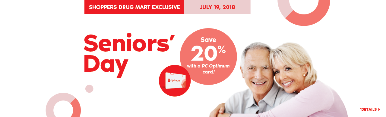 Seniors' Day. Save 20% with a PC Optimum card.*