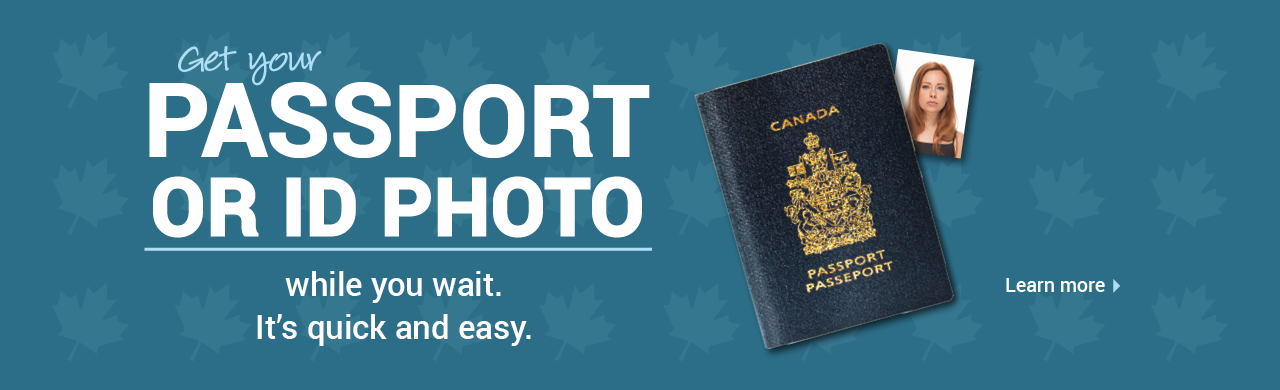 Get your passport or ID photo while you wait. It's quick and easy.