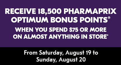 Receive 18,500 Shoppers Optimum Bonus Points