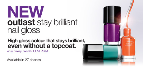 NEW outlast stay brilliant nail gloss