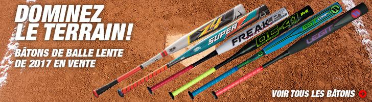 Vente de bâtons de baseball et balle-lente