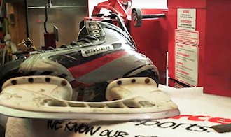 Source For Sports   Precision Balanced Skate Sharpening