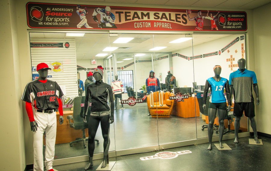 Al Anderson's Source For Sports Store Custom Team Uniforms Saskatoon Saskatchewan