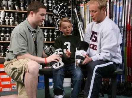 All Pro Source For Sports Newmarket Skate Fitting