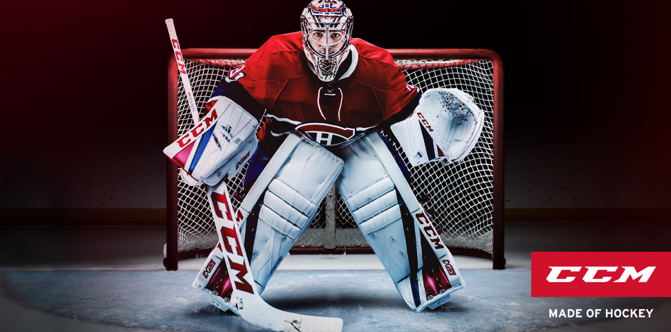 CCM E-Flex 3 Goalie Pads | NHL Montreal Canadiens Carey Price