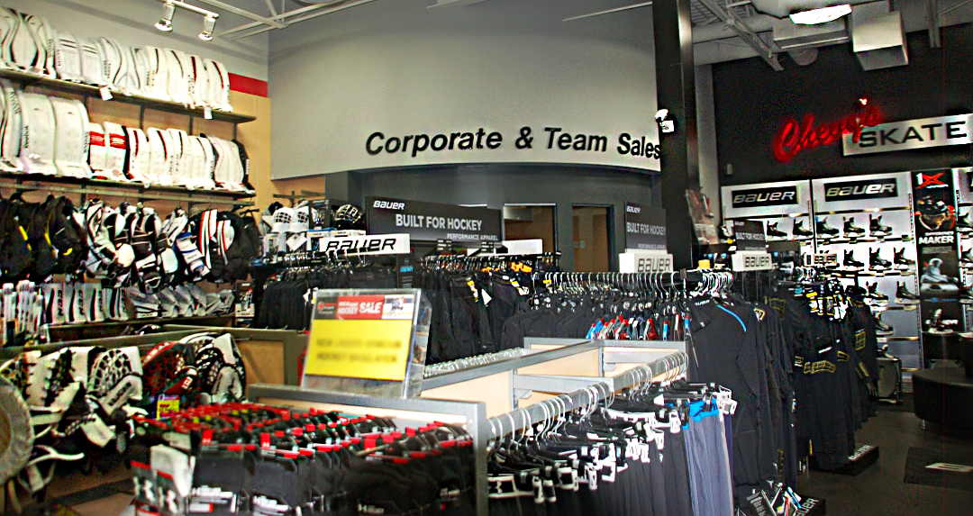 Corporate & Team Sales at Chevy's Source for Sports