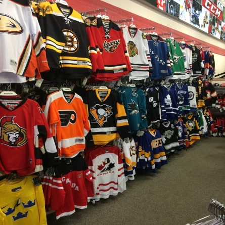 We have licensed for NHL Jerseys & Apparel for Sale at Adrenalin Source For Sports in Calgary, AB.