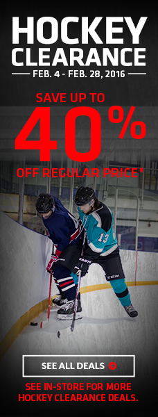 Save Up to 40% off Hockey Skates, Sticks & More | Hockey Clearance
