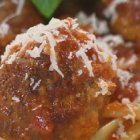 Catherine's Roman Holiday Meatballs in Spicy Tomato Sauce