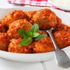 Lidia's Family Table - Turkey Meatballs with Pine Nuts and Golden Raisins