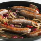 Lidia's Italy - Sausages in the Skillet with Grapes