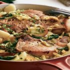 Lidia's Italy - Braised Pork Chops with Savoy Cabbage