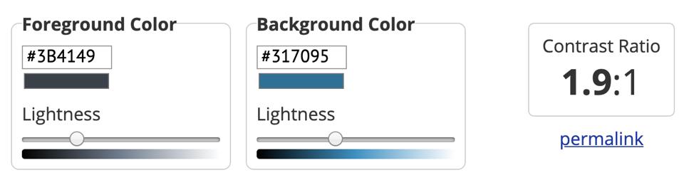 Previous contrast color ratio