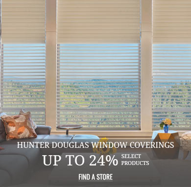 Hunter Douglas Window Coverings Save 24% Select Products
