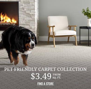 Pet Friendly Carpet Collection from $3.49 sq ft