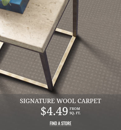 Signature Wool Carpet $4.49 from sq ft