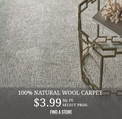 100% Natural Wool Carpet from $3.99 sq.ft.