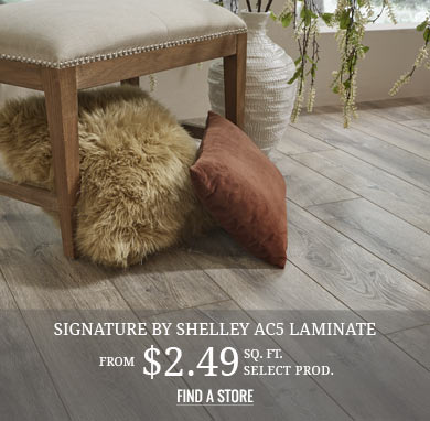 Signature by Shelley AC5 Laminate from $2.49 sq.ft. select prod.