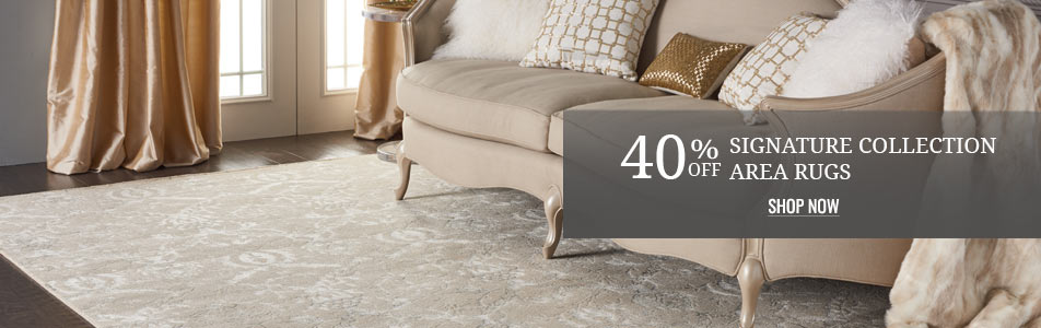 40% off Signature Collection Area Rugs