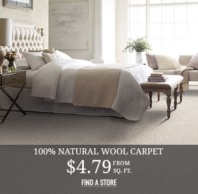 100% Natural Wool Carpet from $4.79 sq.ft.