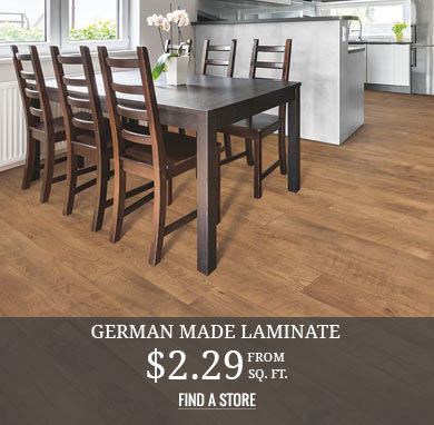 German Made Laminate from $2.29 sq.ft.