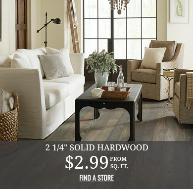 2 1/4in Solid Hardwood from $2.99 sq.ft.