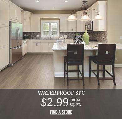 Waterproof SPC from $2.99 sq.ft.