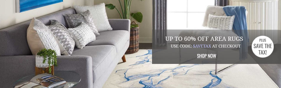Up to 60% off Area Rugs Plus Save the Tax!