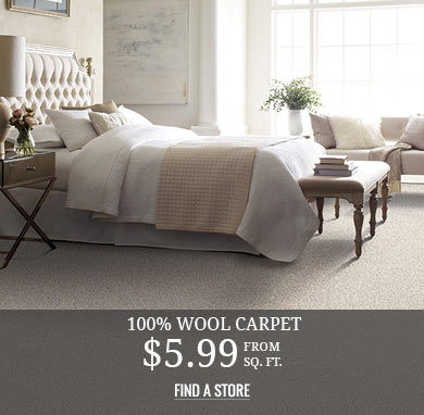 100% Wool Carpet from $5.99 sq.ft.