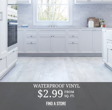 Waterproof Vinyl from $2.99 sq.ft.