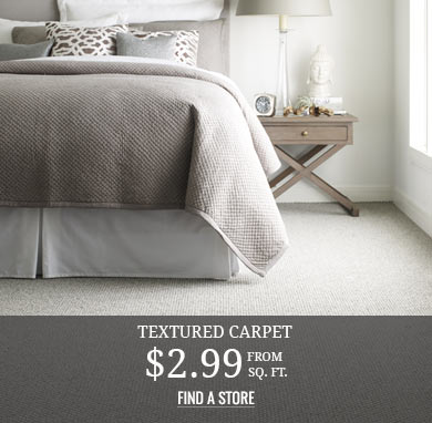 Textured Carpet from $2.99 sq.ft.